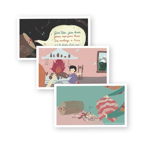 Postales La Tronca de Navidad - Libro Álbum Ilustrado Infantil